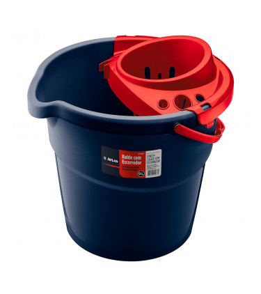 Plastic bucket with strainer for mops
