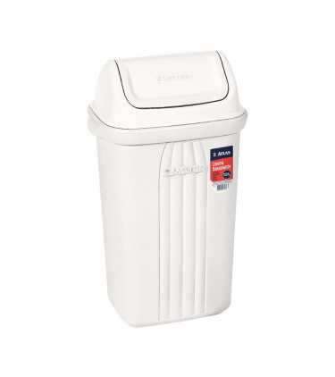 Plastic dustbin with tilting lid